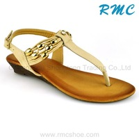 Fancy bead TPR model sandal 2013