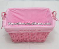 Linyi JiaYu natural empty rattan storage baskets with lids with 100%handmade