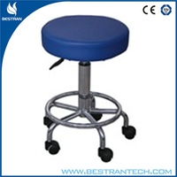 BT-DS008 hospital home office Chromed Steel Revolving Stool