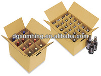 Customized Corrugated Wine Carriers for sale