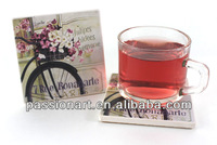colorful paper printing stone coaster ceramic mat