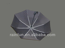 Fiberglass ribs automatic dot 3-section best folding umbrella