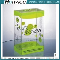 wholesale custom plastic clear pvc cosmetics gift packing box