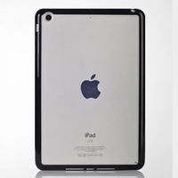 clear hard back tpu for apple ipad mini bumper case