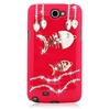 Crytal fish bling plastic hard case for samsung galaxy note 2