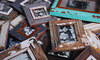 recycled wooden vintage chic photo frames