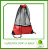 Whosales black small nylon mesh drawstring bag