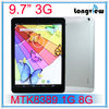 quad core 9.7 inch android phone table 3G mid mtk8389 1G/8G WIFI GPS FM HDMI bluetooth HD screen 0.3M/2.0M camera 1.2GHz