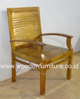 Teak Indoor Furniture Teak Minimalist Chair Indonesia Teak Wood Chair Modern Home Furniture
