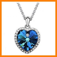 Heart Titanic Romanic Crystal Necklace