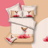 100% cotton printed bedding set with a cute puppy style
