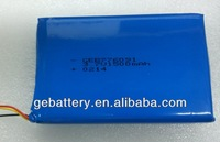 1s2p li-polymer battery 3.7v 1500mah lipo battery pack li-ion 3.7v/1500mah 776091