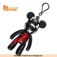 Special black real doll key chain for business promotion gifts