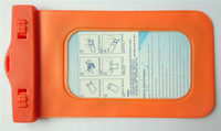 Orange PVC traveling Waterproof phone pouch case for lcd iphone 5