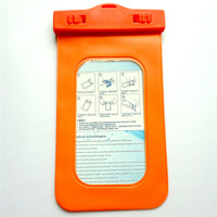 Orange PVC traveling Waterproof phone pouch for iphone 5 battery case