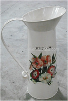 Rustic metal flower jug