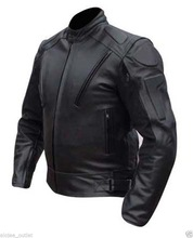 Motorbike Black leather jackets Motorbike Racing biker wear