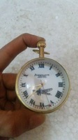 VINTAGE OLD REPRO B.B. & CIR MARK LONDON MARK GLASS ROUND TABLE WATCH,WORKING