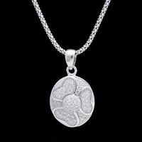 925 sterling silver bend moon pendant necklace jewelry wholesale price