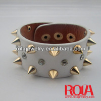 bracelets spiked leather Jamaican