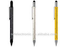 5 in 1 tool pen with gradienter,ruler,screw driver (4 inch),measuring tool pen