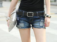 2014 summer new women fashion denim shorts shorts for women patch holes in factory outlets