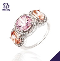 Fantastic orange gemstone fashion accessory cheap fake wedding rings