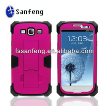 Fancy,super robot design,3 in1 ,supply silicone cell phone case for samsung galaxy s3 i9300