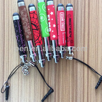 mini retractable stylus keychain for touch screens