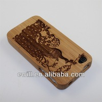 Sapelli Sapele Tornado Design Wood Wooden Cover Case for iphone 4G