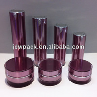 round shape acrylic cosmetic bottle and jar whole set empty plastic container