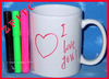 Colour pen cup, color pen mug, ceramic pen mug