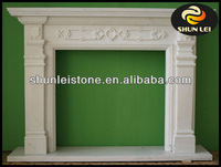 white marble fireplace/limestone marble electric fireplace/indoor used fireplaces