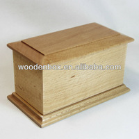 Small wooden casket for pets
