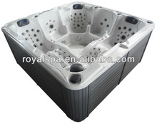 140 Jets 2 Lounge seats Whirlpool Bathtub Swim Spa Pool With Pop-up tv/pillow led