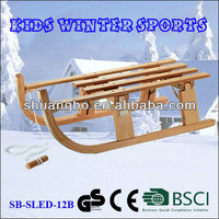 Kids Winter Sports Folding Wooden Snow Sledge 80CM(SB-Sled-12B)
