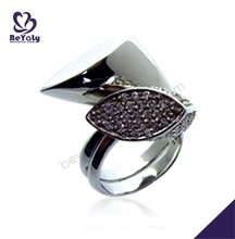 Beauty female fashion silver counting ring