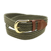 Fashion High Quality Low Price Colorful Fabric Leather Braided 1.35'' Wide Stretch Beaded Belt