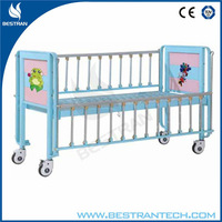 BT-AB003 cartoon medical child bed youth hospital kids metal beds