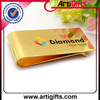 Gold plated promotion metal money clip wholesale