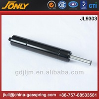 Customized compression piston gas strut with metal ball cups