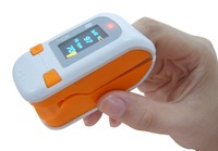 Fingertip Pulse Oximeter with 3 colors(orange,blue,grey)