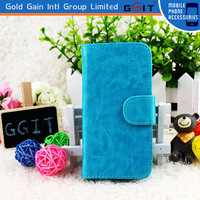 Latest design leather case for iphone 5 flip cover case
