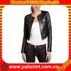 Hot sale top quality bulk fitness durable stylish cropped cheap leather jackets for womens