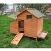 Small wooden poultry house for chicken with nest box CC012L