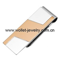2014 blank rose gold stainless steel money clip