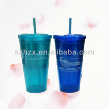 16oz Clear Acrylic Tumblers With Straws