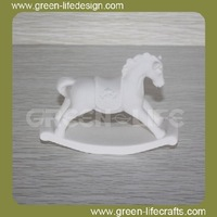 Funny toy horse design ceramic figurines unpainted
