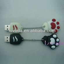 new product usb flash drive cat paw special shape cartoon pen drive , OEM cartoon usb stick/pendrive LFN-206