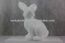 easter flocked rabbit for easter decoration /handmade /beautiful/supplier